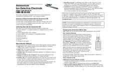 Vernier - Model NH4-BTA - Ammonium Ion-Selective Electrode (ISE) - User Manual