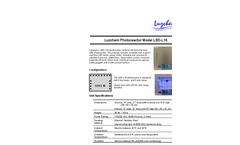 Model LED-4V - LED Dimmable Photoreactors Brochure