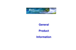 General Product Information - Brochure