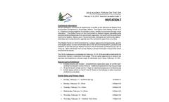Alaska Forum on the Environment 2018 - Brochure