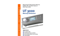Mercury UltraTracer - UT 3000 - Gaseous Detector Brochure
