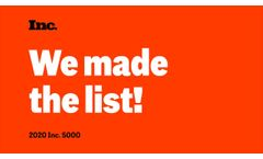 PME Made the Inc. 5000 List! | Precision Measurement Engineering