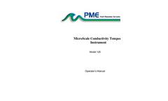 PME - Model MSCTI - 125MicroScale Conductivity and Temperature Instrument - Brochure