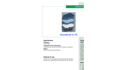 Acusticell - Model S TE - Airborne Sound Absorption - Brochure
