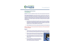 Ormantine - Formaldehyde and Aldehydes Diffusion Tubes - Brochure