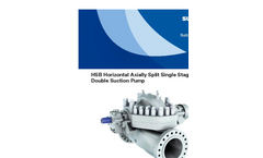 HSB - Horizontal Axially Split Single Stage Double Suction Pump Brochure