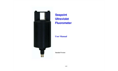 Seapoint - Ultraviolet Fluorometer - User Manual