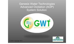 Genesis Water Technologies Advanced Oxidation (AOP) System Solution - Presentation