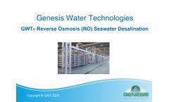 GWT - Reverse Osmosis (RO) Seawater Desalination - Presentation