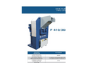 SatrindTech - Model F 410/360 - F 410/420 - F 410/480 - 2 Shaft Shredder - Datasheet