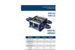 SatrindTech - Model 4R10/150 - 4R13/150 - 4R15/400 - 4R20/400 - 4 Shaft Shredder Power 150 HP - Datasheet