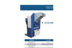 SatrindTech - Model F 410/360/RI - 2 Shaft Shredder F 10 HP with Ricirculator - Datasheet