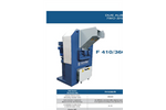SatrindTech - Model F 410/360/RI - 2 Shaft Shredder F 10 HP with Ricirculator - Datasheet