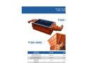 SatrindTech - Model T20/200 - T30/400 Power 400 HP - 2 Shaft Waste Crusher - Datasheet