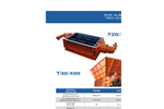 SatrindTech - Model T20/200 - T30/400 Power 400 HP - 2 Shaft Waste Crusher - Datasheet