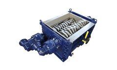 SatrindTech - Model 3R10/75 - 3R13/75 Power 75 HP - 3 Shaft Shredders