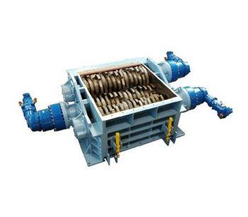 SatrindTech - Model 3R15/320 - 3R20/320 Power 320 HP - 3 Shaft Shredder
