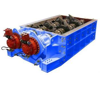 SatrindTech - Model T20/200 - T30/400 Power 400 HP - 2 Shaft Waste Crusher