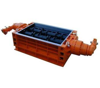 SatrindTech - Model T20/200 - T30/400 Power 200 HP - 2 Shaft Waste Crushers