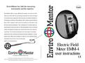 Enviromentor - Model EMM-4 - Electric Field Meter Brochure