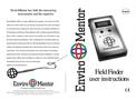Enviromentor - Model V 2 - Electric Field Field Finder Meter Brochure