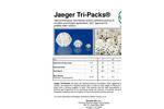 Jaeger Tri - Packs - Random Spherical Packing for Scrubber and Stripper Applications - Brochure