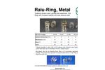Raschig - Ralu-Ring, Metal Random Metal Packing - Brochure