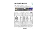 Distillation Towers - High Capacity Specialty Trays - Brochure