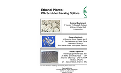 Ethanol Plants: CO2 Scrubber Packing Options - Brochure