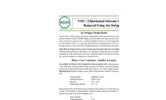 VOC / Chlorinated Solvents in Water Removal Using Air Stripping - Datasheet