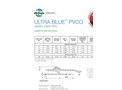 Ultra Blue - Model PVCO C909 & F1483 - Molecularly Oriented Pipe- Submittal & Data Sheets