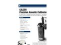 Model CAL250 - Precision Acoustic Calibrator Brochure