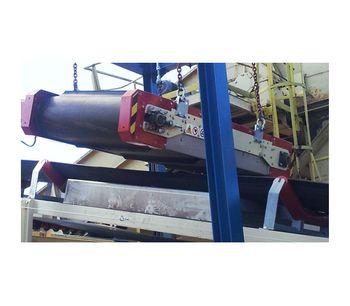 Permanent Magnetic Overbelt Separator System-2