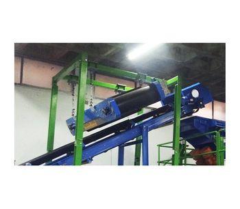 Permanent Magnetic Overbelt Separator System-3