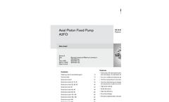 Rexroth - Model A2FO - Axial Piston Fixed Pumps - Brochure