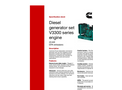Cummins - Model V3300 Series - Diesel Generator Set Engine - Datasheet