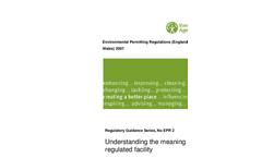 Environmental Permitting Regulations- Brochure