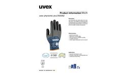 uvex - Model Pro - Phynomic Lite Safety Glove Brochure