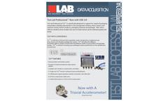 TestLab Professional - Model V6 - USB - Drop/Shock Data Acquisition Systems - Datasheet