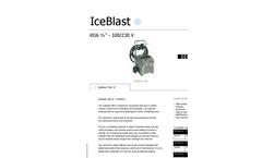 IceBlast - KG6 - Dry Ice Blasting Machine Specifications