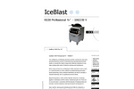 "IceBlast - Model KG30 Professional ¾"" - 110/230 V - Dry Ice Blasting Machine Specifications"