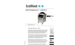 "IceBlast - Model KG50 Professional ¾"" - 110/230 V - Dry Ice Blasting Machine Specifications"