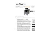 "IceBlast - Model KG30 Professional ¾"" Multi-Touch - 110/230 V - Dry Ice Blasting Machine Specifications"