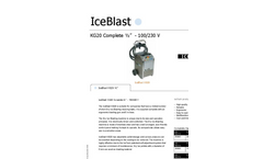 IceBlast - KG20 - Dry Ice Blasting Machine Technical Specifications