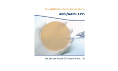 New ISO Water Quality Standard for Hemodialysis Brochure