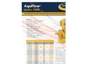 AquFlow - Model Series 1000 - Hydraulically Actuated Diaphragm Metering Pumps Features Brochure
