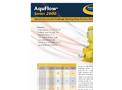 AquFlow - Model Series 2000 - Compact Hydraulically Actuated Diaphragm Metering Pump Features Brochure