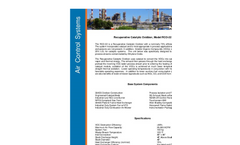 Recuperative Catalytic Oxidizer Cut Sheet