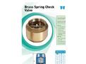 Brass Spring Check Valve- Brochure
