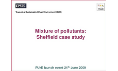 Determining the contribution of the sources and mixtures of pollutants to environmental and human health impacts in Sheffield pdf